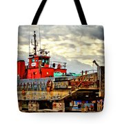 Big Ship Rising Tote Bag