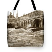 Big Storm Waves At Santa Cruz Beach And Casino And Beach Ca Circa 1925 Tote Bag