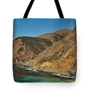 Big Sur And The Bridge Tote Bag by Adam Jewell