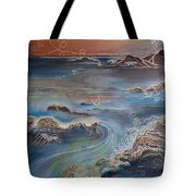 Big Sur In Sunset Tote Bag