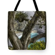 Big Sur Mc Way Falls At Julia Pfeiffer State Park-1 Central California Coast Spring Early Afternoon Tote Bag