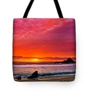 Big Sur Sunset Pfeiffer Beach Tote Bag
