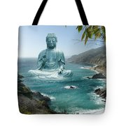 Big Sur Tea Garden Buddha Tote Bag by Alixandra Mullins