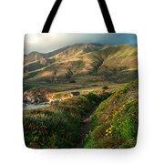 Big Sur Trail At Soberanes Point Tote Bag