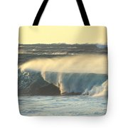 Big Surf At Sunset Tote Bag