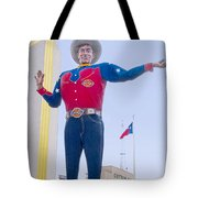 Big Tex And The Cotton Bowl  Tote Bag
