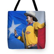 Big Tex And The Lone Star Flag Tote Bag