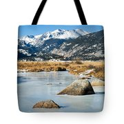 Big Thompson River Through Moraine Park In Rocky Mountain National Park Tote Bag