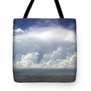 Big Thunderstorm Over The Bay Tote Bag