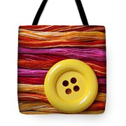 Big Yellow Button  Tote Bag