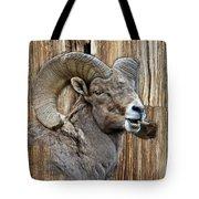 Bighorn Sheep Barnwood Tote Bag
