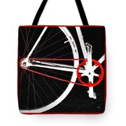 Bike In Black White And Red No 2 Tote Bag