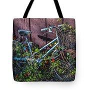 Bike In The Vines Tote Bag