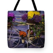 Bike Planter Tote Bag