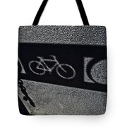 Bike Rack Shadow Tote Bag