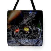 Bike Rider - Canada To Charleston To New Orleans Tote Bag