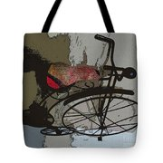 Bike Seat View Tote Bag