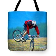 Bike Stunt Tote Bag