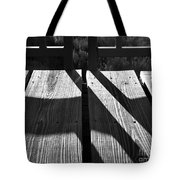 Bike Trail Bridge Bw Tote Bag