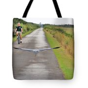 Biker And The Bird Tote Bag