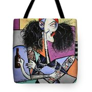 Biker Chick Tote Bag by Anthony Falbo