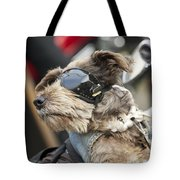 Biker Dog Tote Bag
