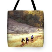 Bikers On Foresthill Divide Trail Tote Bag