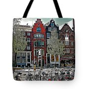 Bikes Everywhere In Amsterdam-netherlands Tote Bag