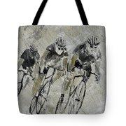 Bikes In The Rain Tote Bag