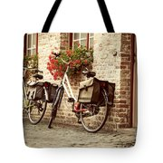 Bikes In The School Yard Tote Bag