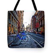 Bikes In The Snow Tote Bag