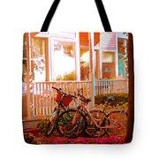 Bikes In The Yard Tote Bag
