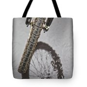 Biking In The Rain Tote Bag