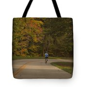 Biking In The Smoky Mountains Tote Bag