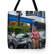 Bikini Bunny In Miami Tote Bag