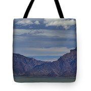 Bill Cody Reservoir From Sheep Mountain  Panoramic  Signed  25.75x78 Tote Bag