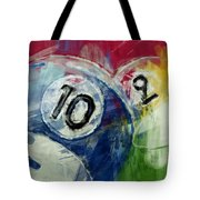 Billiards 10 And 9 Tote Bag
