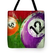 Billiards Abstract 5 12 Tote Bag