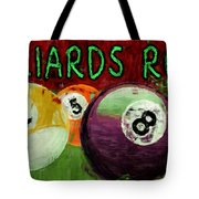 Billiards Room Abstract  Tote Bag