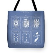 Billings Playing Cards Patent Drawing From 1873 - Light Blue Tote Bag