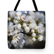 Billows Of Fluffy White Bradford Pear Blossoms Tote Bag