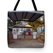 Billy Carters Old Service Station In Plains Georgia Tote Bag