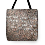 Billy Martin Tote Bag