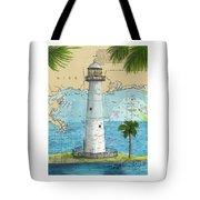 Biloxi Lighthouse Ms Nautical Chart Art Cathy Peek Tote Bag