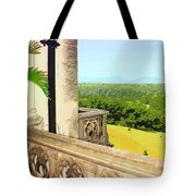 Biltmore Balcony Asheville Nc Tote Bag by William Dey