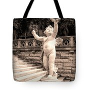 Biltmore Cherub Asheville Nc Tote Bag by William Dey