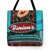 Binions Whiskey Licker Bar Tote Bag