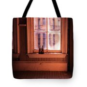Binoculars On Windowsill Tote Bag