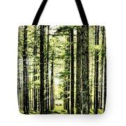 Birch Forest Fractal Tote Bag