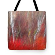 Birch Trees Abstract Tote Bag